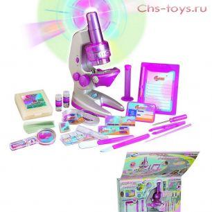 """Серия """"Познай мир""""  2212 Большой микроскоп для девочек"""