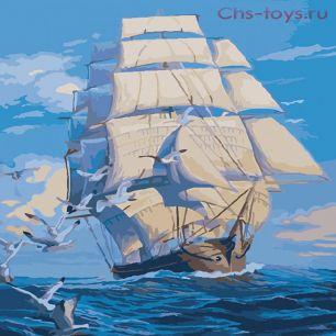 Картина по номерам Корабль в море E312