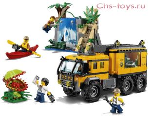 Конструктор LELE Cities Передвижная лаборатория в джунглях 39064 (Аналог LEGO City 60160) 460 дет