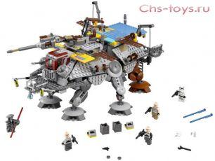 Конструктор LEPIN Star WNRS Шагающий штурмовой вездеход AT-TE Капитана Рекса 05032 (Аналог LEGO Star Wars 75157) 1022 дет