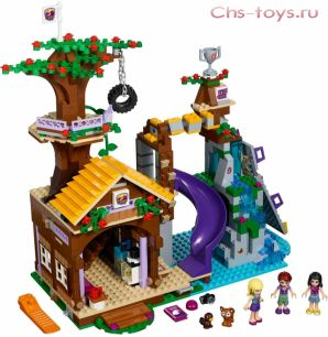 Конструктор LELE The Girl Спортивный лагерь Дом на дереве 37048 (Аналог LEGO Friends 41122) 739 дет