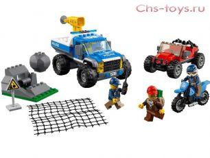 Конструктор LEPIN Cities Погоня по грунтовой дороге 02084 (Аналог LEGO City 60172) 332 дет